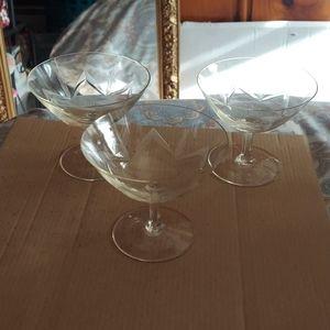 3 martini glasses set of 3